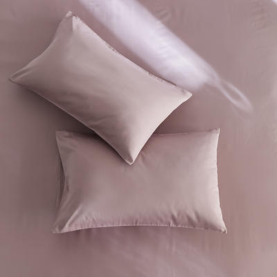 2020新款60s纯色单品枕套 48cmX74cm/对 豆沙紫