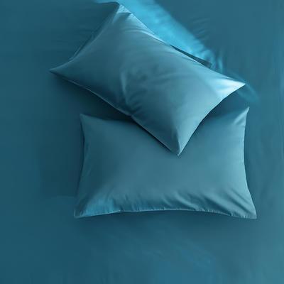 2020新款60s纯色单品枕套 48cmX74cm/对 湖蓝