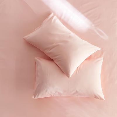 2020新款60s纯色单品枕套 48cmX74cm/对 裸粉