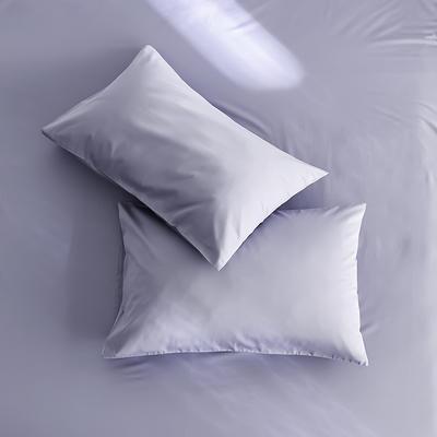 2020新款60s纯色单品枕套 48cmX74cm/对 品蓝