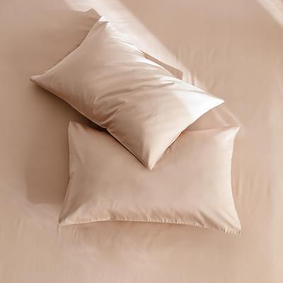 2020新款60s纯色单品枕套 48cmX74cm/对 浅咖