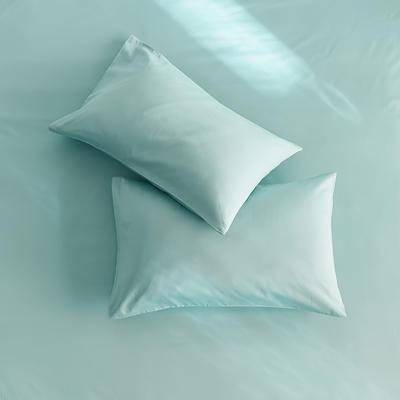 2020新款60s纯色单品枕套 48cmX74cm/对 天蓝