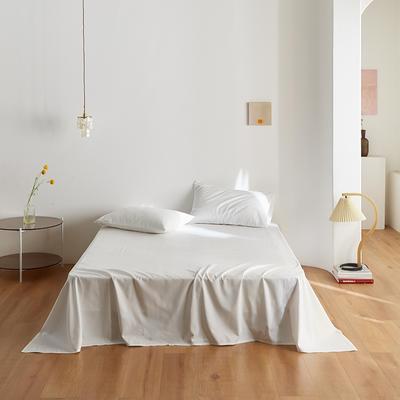 2020新款60纯色单品床单 245cmx270cm 白色