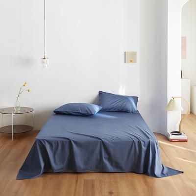 2020新款60纯色单品床单 245cmx270cm 宝蓝