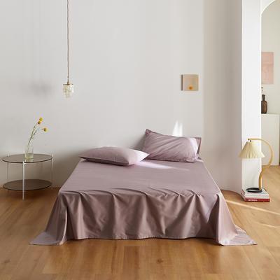 2020新款60纯色单品床单 245cmx270cm 豆沙紫