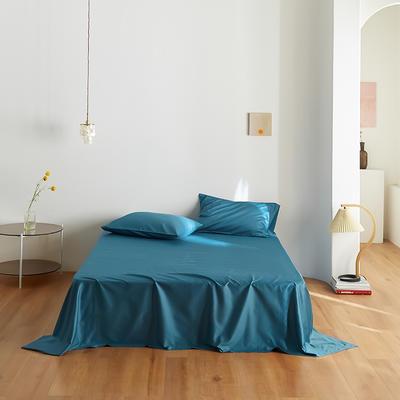 2020新款60纯色单品床单 245cmx270cm 湖蓝