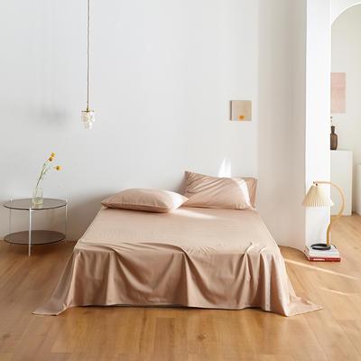 2020新款60纯色单品床单 245cmx270cm 浅咖