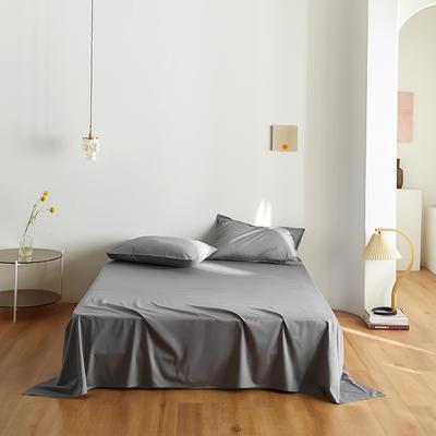 2020新款60纯色单品床单 245cmx270cm 中灰