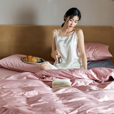 2020新款60长绒棉纯色四件套 1.5m床单款四件套 豆沙