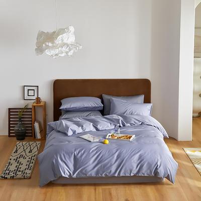 2020新款60长绒棉纯色四件套 1.8m床单款四件套 品蓝
