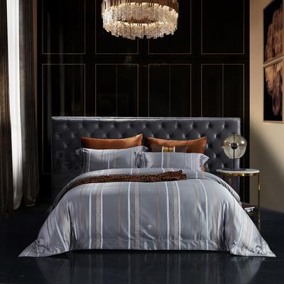 2020新款全棉色织提花系列四件套 2.0m床单款四件套 贝伦