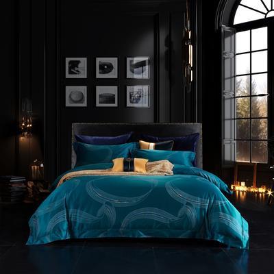 2020新款全棉色织提花系列四件套 2.0m床单款四件套 塞布鲁斯