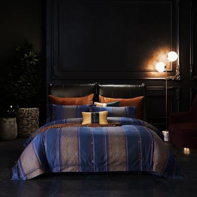2020新款全棉色织提花系列四件套 2.0m床单款四件套 余奢