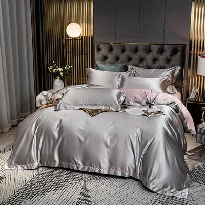 2020新款高精密绣花系列莫莉四件套图片2 1.8m床单款四件套 莫莉 银灰