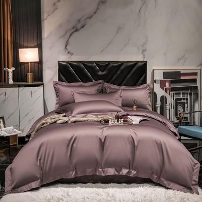 2021新款100支澳棉纯色四件套 1.5m床单款四件套 浅咖