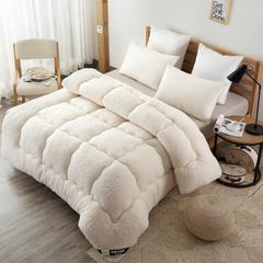 ☆羊羔绒冬被 150*200cm 奶白色