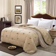 纯棉精品驼毛被 150*200cm6斤 驼色