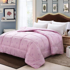 纯棉澳洲羊毛被 冬被 加厚被子单双人保暖春秋被芯 包邮特价 150*200cm6斤 粉色