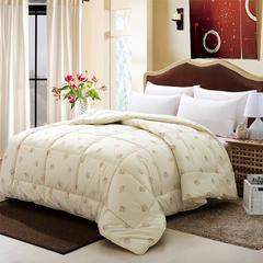 纯棉澳洲羊毛被 冬被 加厚被子单双人保暖春秋被芯 包邮特价 150*200cm6斤 米黄