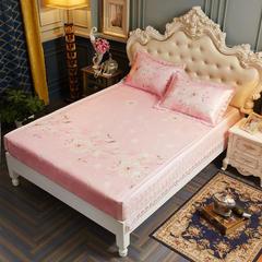 冰丝席三件套 可机洗凉席床笠款床包款 1.5m(5英尺)床 盛世花舞-粉