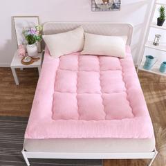 2018羊羔绒床垫 90x200cm 粉色