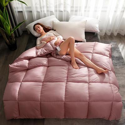 2020新款纯色羽丝绒绗缝被子被芯 150x200cm(5斤) 胭脂玉