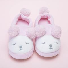 彩窝窝家纺球球熊 低帮拖鞋 女款 35-36 粉色