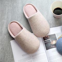 彩窝窝家纺K2004纯色针织拖鞋 S(36-37) 粉色
