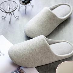 彩窝窝家纺K2004纯色针织拖鞋 S(36-37) 浅灰