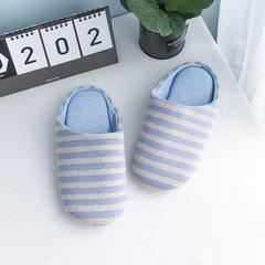 彩窝窝家纺Z1701胖条纹拖鞋 M(38-39) 浅蓝