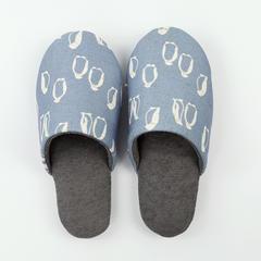 彩窝窝家纺    小动物棉麻家居鞋儿童款 XS(32-33) 企鹅