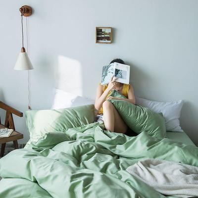 2019新款60支纯色基础款四件套 1.2m(4英尺)床单款三件套 朦胧绿