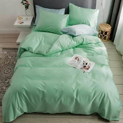 2019新款60支純色基礎款四件套 枕套 松餅綠
