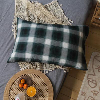 2020新款格子枕套 48cmX74cm/只 凡爾賽格子枕套
