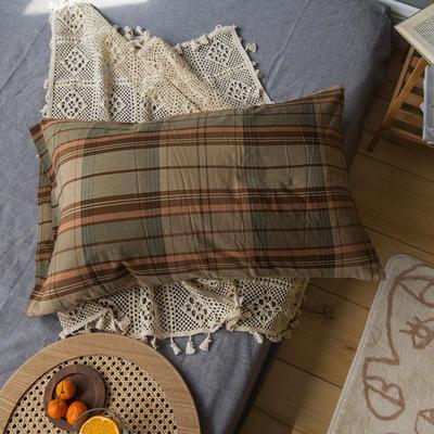 2020新款格子枕套 48cmX74cm/只 西西里格子枕套