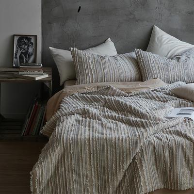 2020新款简约风夏被套装(弗雷曼系列) 枕套/只 弗雷曼夏被—棕