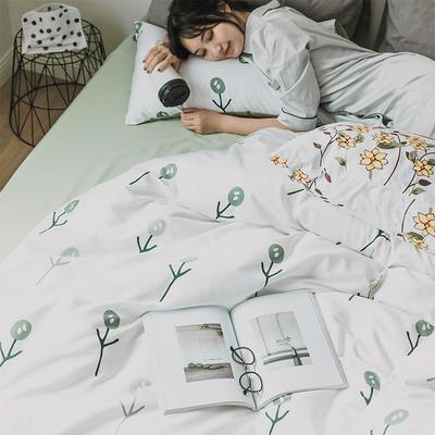 2020新款60S印花系列四件套-第二代 1.2m床单款三件套 花朵朵Ⅱ代