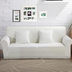 爆款-提花针织沙发套12色 四人位235-300cm 白色