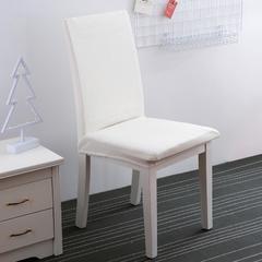 针织条纹弹力椅子套 月皓白