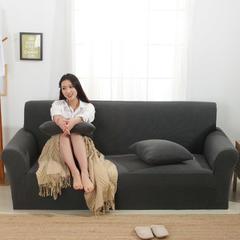 条纹针织沙发套 45*45cm抱枕套 太空灰