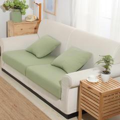 条纹针织床笠式沙发套 25元/平方 薄荷绿