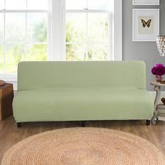 宏雅家纺针织无扶手沙发床套 薄荷绿