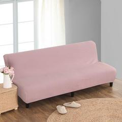 宏雅家纺针织无扶手沙发床套 复古粉