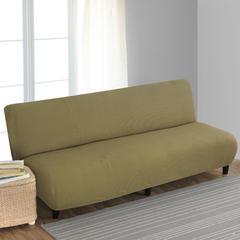 宏雅家纺针织无扶手沙发床套 橄榄绿