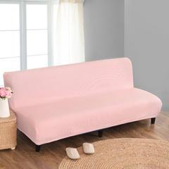 宏雅家纺针织无扶手沙发床套 公主粉