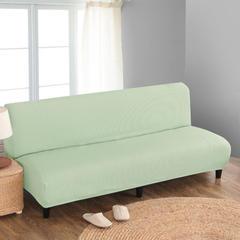 宏雅家纺针织无扶手沙发床套 抹茶绿