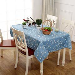 田园风绣花餐桌布 60*60cm 爱在深秋-蓝