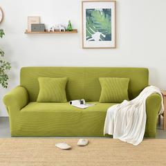 亚马逊爆款摇粒绒沙发套 40*40cm抱枕套(隐藏式拉链) 翠绿黄