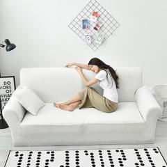 华夫格防水功能性沙发套 单人/S码 奶油白