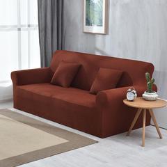 2018兰蒂斯防水弹力沙发套3色-终版 180*230cm(L码) 红咖40*40cm信封式枕套/一只